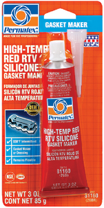 HIGH-TEMP RED RTV SILICONE GASKET MAKER (#180-81160) - Click Here to See Product Details