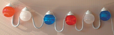 """POLYMER PRODUCTS LLC RED/WHITE/BLUE 6"""" GLOBE (1699-00705)"""