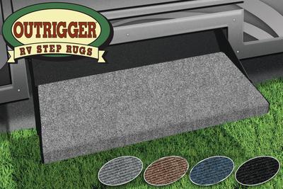 PREST-O-FIT RV STEP RUGOUTRIGGER GRAY (2-0313)