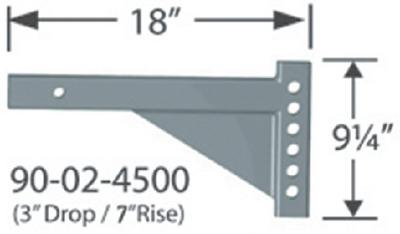 PROGRESS MFG INC 2INSQ.-3IN/7INR.18IN (90-02-4500)