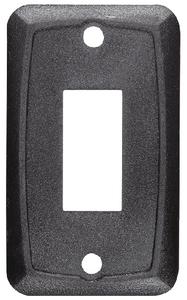 RV DESIGNER MOUNTING PLATE-SINGLE BLACK (S385)