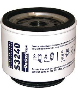 GASOLINE SPIN-ON SERIES FUEL/WATER SEPARATOR (#62-S3240) - Click Here to See Product Details