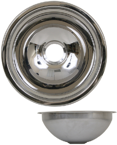 STAINLESS STEEL BASINS - MIRROR FINISH (#390-10201) - Click Here to See Product Details
