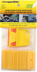PLASTIC RAZOR BLADES (#921-25ACYE) - Click Here to See Product Details