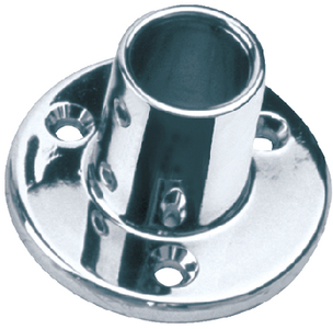 ROUND RAIL BASES - CHROME ZINC (#354-2860901) - Click Here to See Product Details