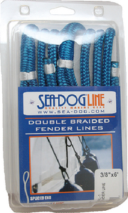SEA-DOG LINE DBLBRD FNDR LINE 3/8X6 GRN 2PK (302110006GN-1)