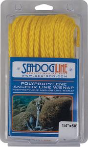 SEA-DOG LINE POLY ANC LINE SNAP 3/8X100 YEL (304210100YW-1)