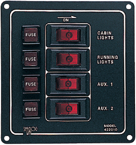 ALUMINUM SWITCH PANEL (#354-4220101) - Click Here to See Product Details