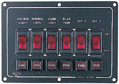 ALUMINUM SWITCH PANEL (#354-4222101) - Click Here to See Product Details