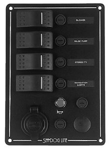 SWITCH PANEL WITH POWER SOCKET & HORN BUTTON (#354-425144) - Click Here to See Product Details