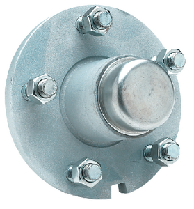 GALVANIZED TRAILER WHEEL HUB  (#50-53041) - Click Here to See Product Details