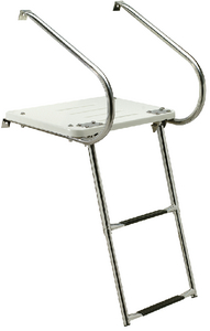 UNIVERSAL SWIM PLATFORM<BR>WITH UNDER MOUNT TELESCOPING LADDER (#50-71211) - Click Here to See Product Details