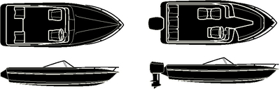 STERLING SERIES V-HULL RUNABOUTS & LOW PROFILE<BR>CUDDY CABINS W/ RAIL - BOAT COVER (#50-97351) - Click Here to See Product Details