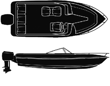 SEMI-CUSTOM V-HULL RUNABOUT O/B - BOAT COVER  (#50-97401) - Click Here to See Product Details