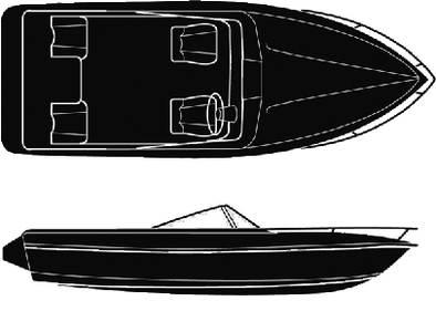 SEMI-CUSTOM V-HULL RUNABOUT I/O - BOAT COVER (#50-97461) - Click Here to See Product Details