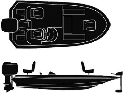 SEMI-CUSTOM WIDE BASS BOAT - BOAT COVER (#50-97581) - Click Here to See Product Details