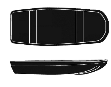 SEMI-CUSTOM JON BASS BOAT - BOAT COVER  (#50-97741) - Click Here to See Product Details