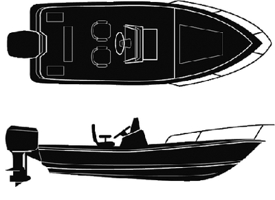 SEMI-CUSTOM V-HULL CENTER CONSOLE - BOAT COVER  (#50-97801) - Click Here to See Product Details