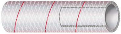 CLEAR REINFORCED PVC TUBING WITH TRACER - SERIES 162 & 164 (#88-1621006) - Click Here to See Product Details
