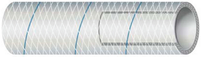 CLEAR REINFORCED PVC TUBING WITH TRACER - SERIES 162 & 164 (#88-1640126) - Click Here to See Product Details