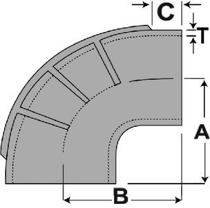 SHIELDS HOSE ELBOW 90 DEG EPDM 6IN (116-290-6000-1)