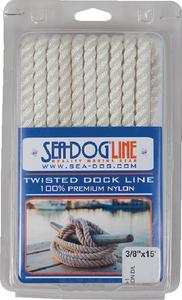 "SEA-DOG LINE TWISTED NYLON DL 3/8""X10' WHT (301110010WH-1)"