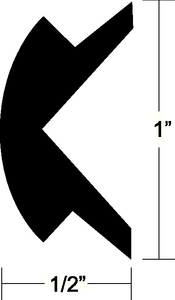 FLEXIBLE VINYL INSERT (#236-V120303BKA501) - Click Here to See Product Details