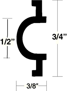 FLEXIBLE VINYL INSERT (#236-V120334BKA501) - Click Here to See Product Details