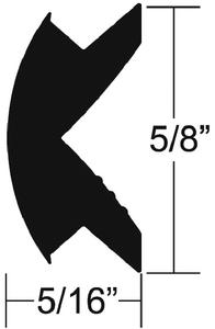 FLEXIBLE VINYL INSERT (#236-V120342BKA250) - Click Here to See Product Details