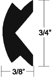 FLEXIBLE VINYL INSERT (#236-V124155BKA501) - Click Here to See Product Details