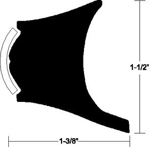 RIGID VINYL RUB RAIL (#236-V211025WHC20D) - Click Here to See Product Details
