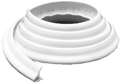 WHITE TWIN FLAP VINYL DECK CHANNEL (#32-826500) - Click Here to See Product Details