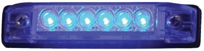 T-H MARINE LED SLIMLINE STRIP 6 IN BLUE (LED51806DP)