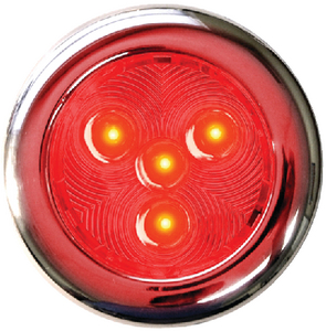 T-H MARINE LED PUCK LIGHT SS 3IN RED (LED51897DP)
