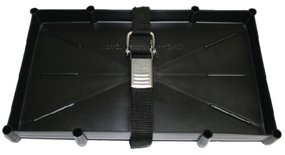 BATTERY TRAY WITH STAINLESS STEEL BUCKLE (#232-NBH31SSCDP) - Click Here to See Product Details