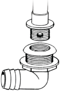SCREW-IN OVERFLOW DRAIN TUBE (#232-TH1890T) - Click Here to See Product Details