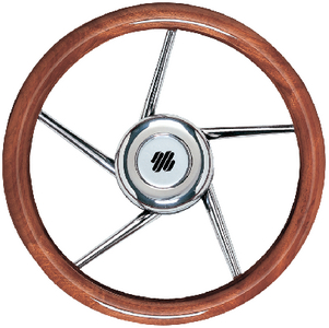 5 SPOKE NON-MAGNETIC STAINLESS STEEL STEERING WHEEL  (#216-V05) - Click Here to See Product Details