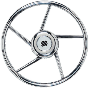 5 SPOKE NON-MAGNETIC STAINLESS STEEL STEERING WHEEL  (#216-V06) - Click Here to See Product Details