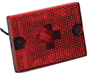CLEARANCE/SIDE MARKER LIGHT WITH REFLEX LENS (#274-203116) - Click Here to See Product Details
