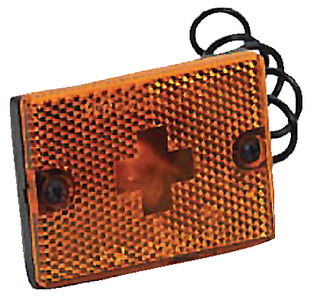 CLEARANCE/SIDE MARKER LIGHT WITH REFLEX LENS (#274-203117) - Click Here to See Product Details