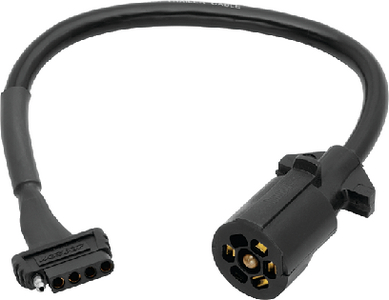 7 WAY VEHICLE TO 5 WAY TRAILER ADAPTER (#274-707250) - Click Here to See Product Details