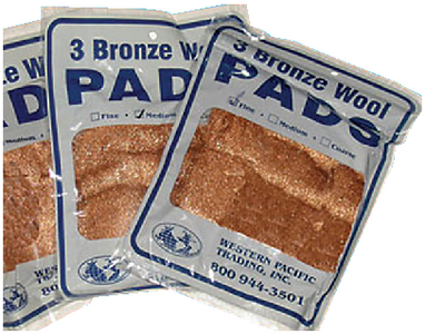 BRONZE WOOL PADS (#355-35005) - Click Here to See Product Details