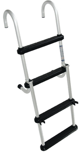 REMOVABLE 4 STEP FOLDING PONTOON LADDER (#332-CM1) - Click Here to See Product Details