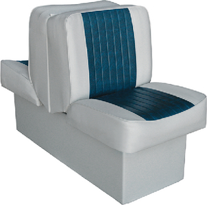 """WISE SEATING LOUNGE W/ 10"""" BASE-GY/NAVY (8WD707P1660)"""